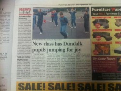 Dundalk Leader September 2013 - Skipping in Eire