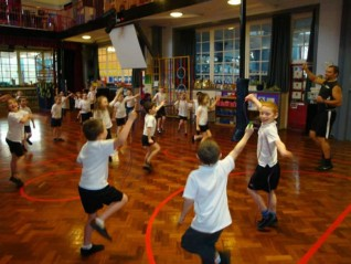 Having a great time on a Skipping4Schools skipping day