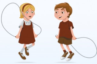 Skipping in Lincolnshire at primary schools