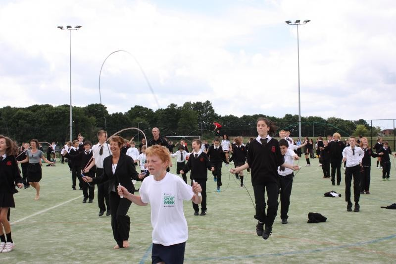 Skip4Life at Holy Cross High Chorley as part of the YST's Mass Participation initiative, July 2010