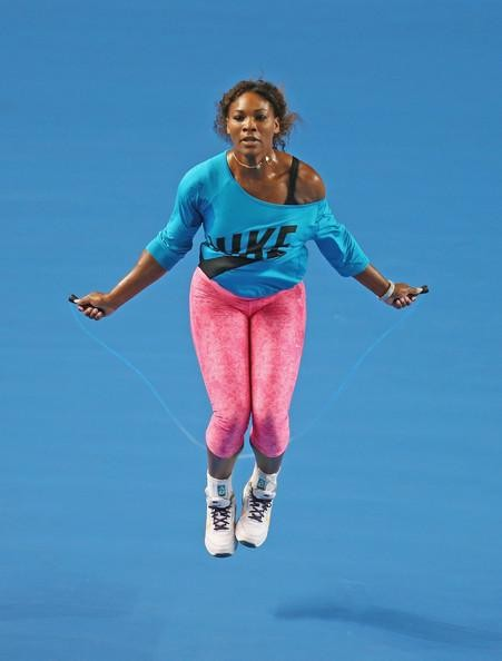 Monday 30th June - Regular skipping can really benefit tennis players as Serena shows...