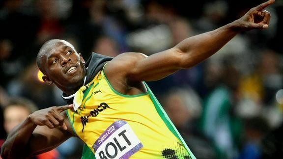 Monday 17th March - Usain Bolt skips before races...